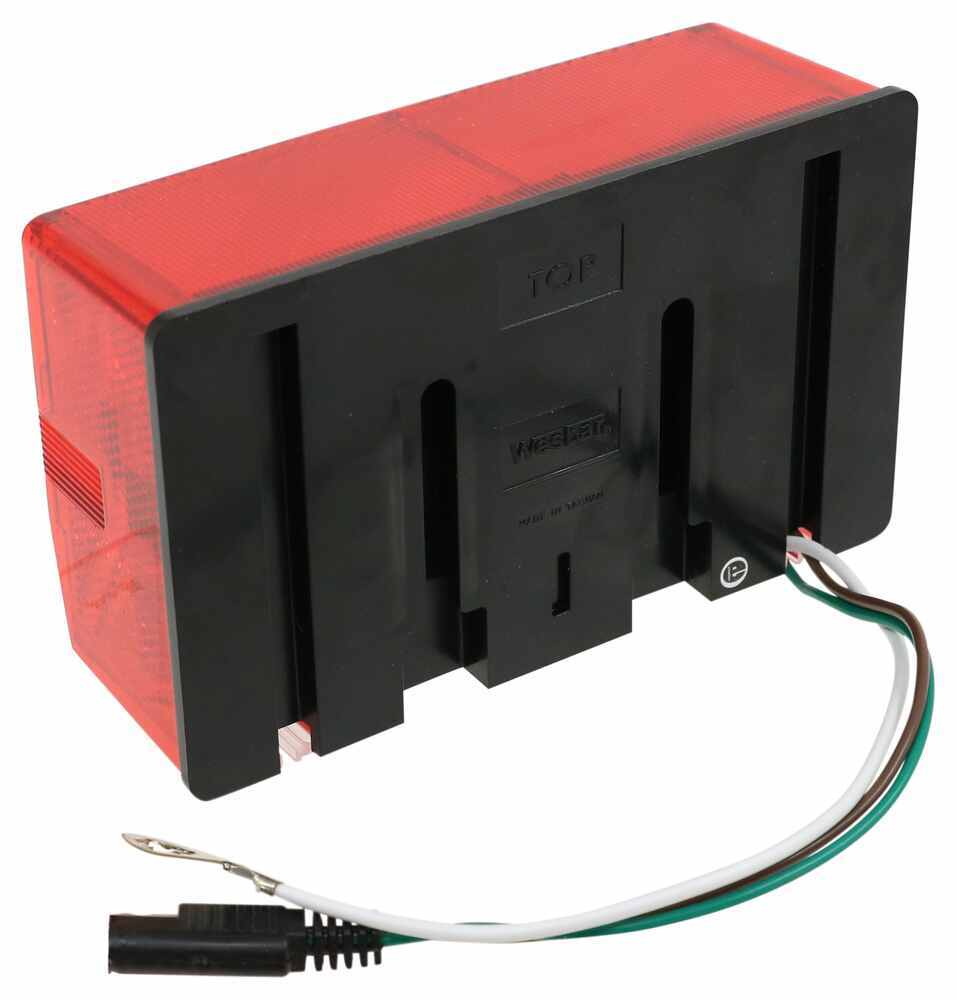 medium resolution of wesbar tail light for trailers over 80 wide submersible 7 function passenger side wesbar trailer lights 403075