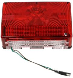 wesbar tail light for trailers over 80 wide submersible 7 function passenger side wesbar trailer lights 403075 [ 964 x 1000 Pixel ]