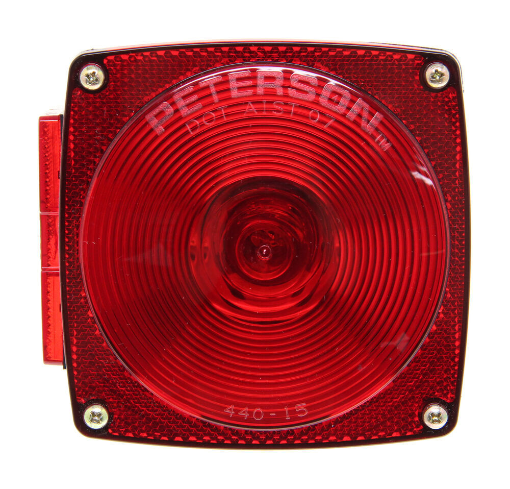 medium resolution of peterson square trailer tail light 7 function left hand peterson trailer lights 432400