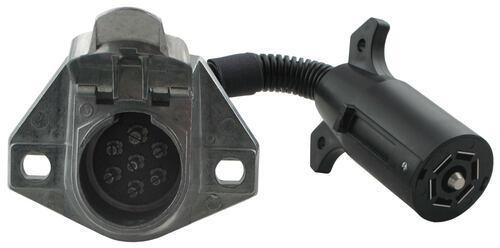 Trailer Wiring Adapter 7 Way Euro Round To Flat 4 Conversion Plug