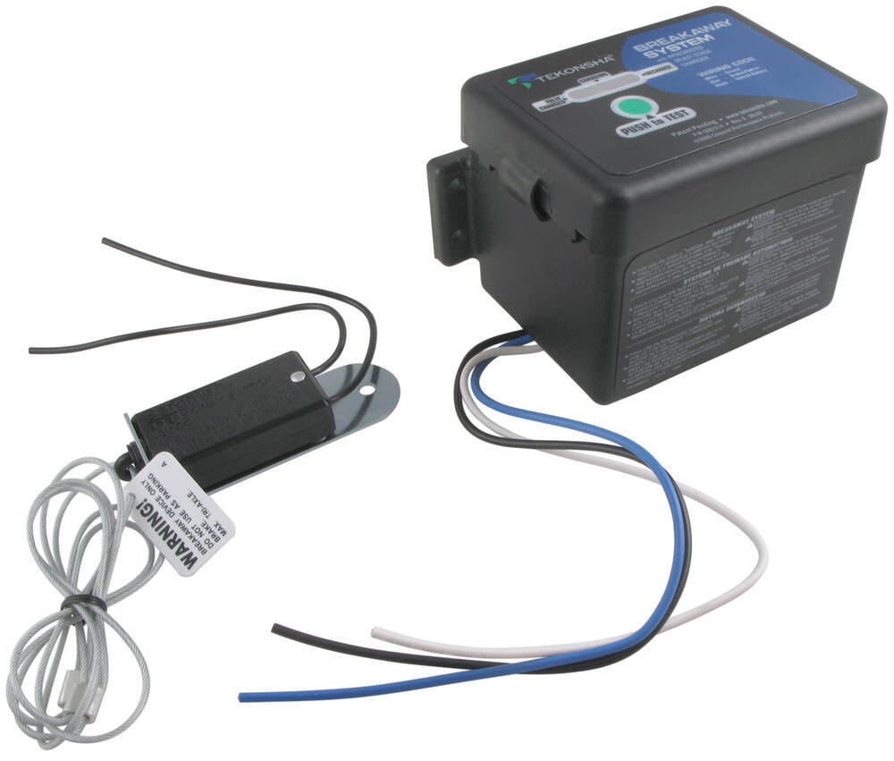 medium resolution of tekonsha push to test trailer breakaway kit with built in battery charger top load tekonsha trailer breakaway kit 50 85 313
