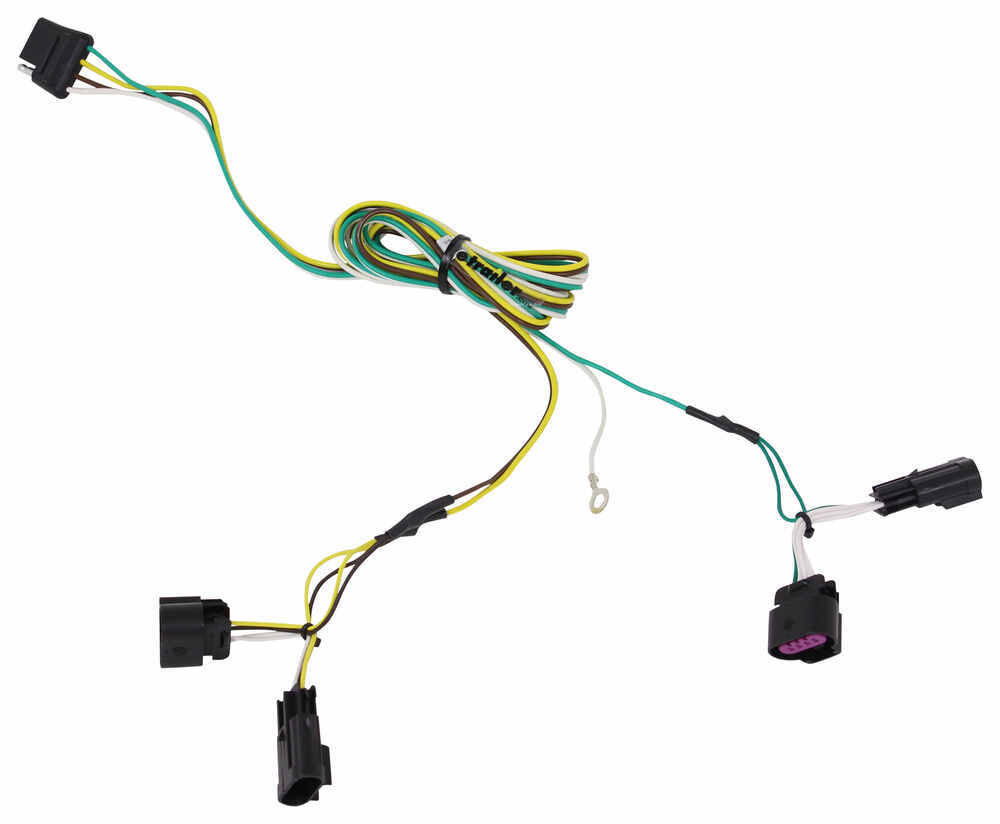 medium resolution of curt t connector vehicle wiring harness with 4 pole flat trailer connector curt custom fit vehicle wiring 56094