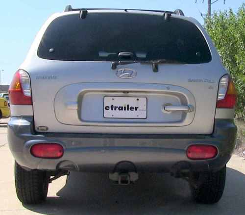 small resolution of 87419 3500 lbs gtw hidden hitch trailer hitch on 2003 hyundai santa fe