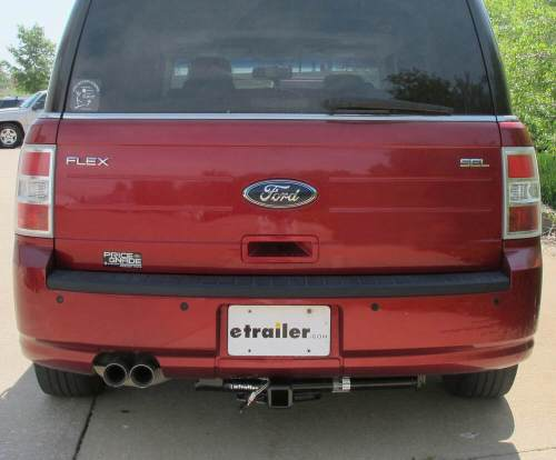 small resolution of 87571 visible cross tube hidden hitch trailer hitch on 2009 ford flex