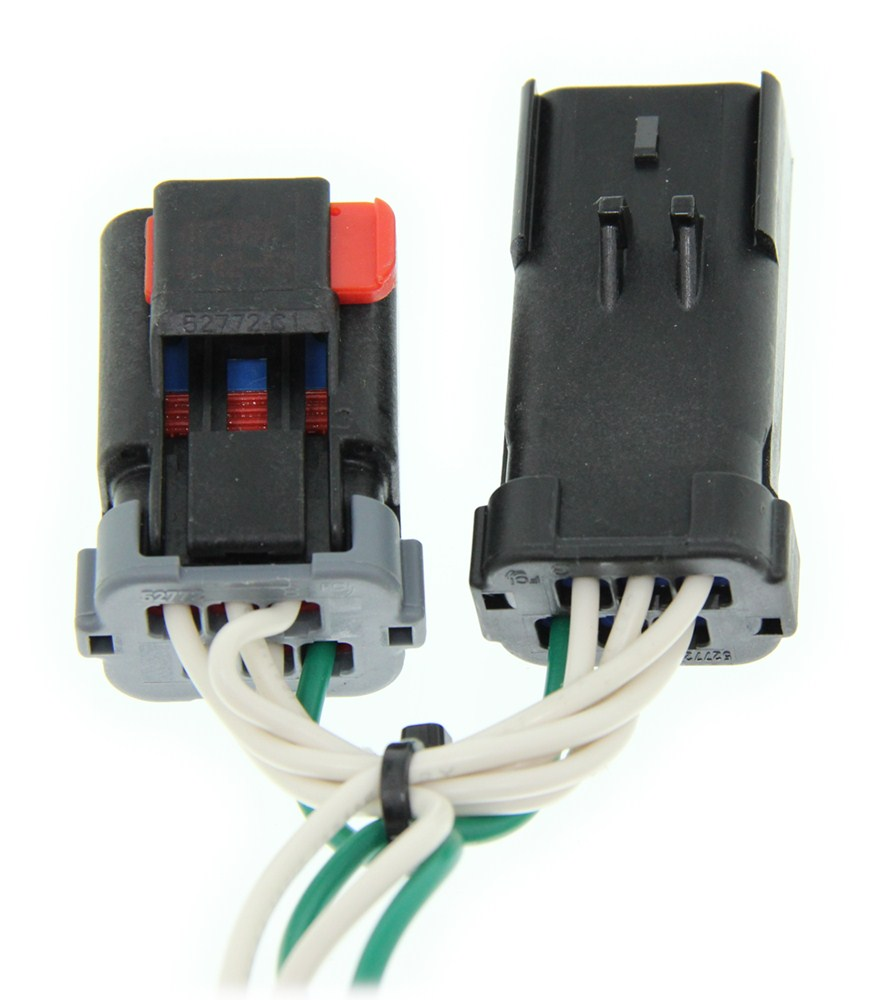 Connector Vehicle Wiring Harness With 4 Pole Flat Trailer Connector
