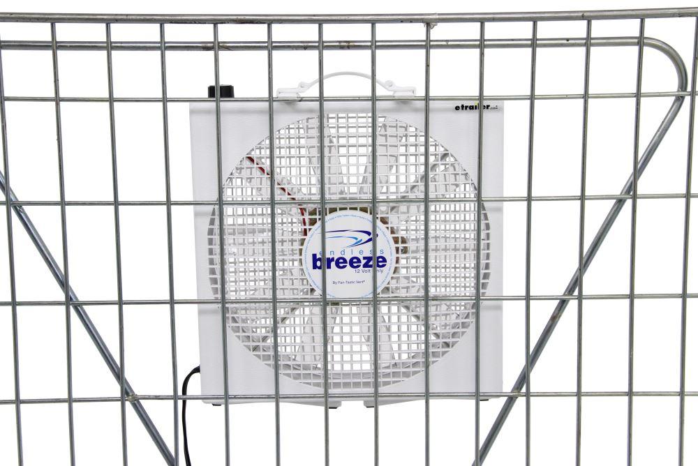 Fan-Tastic Vent Endless Breeze Portable Box Fan w/ Hanging