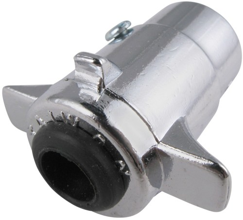small resolution of pollak 5 pole round pin trailer wiring connector chrome trailer end 17