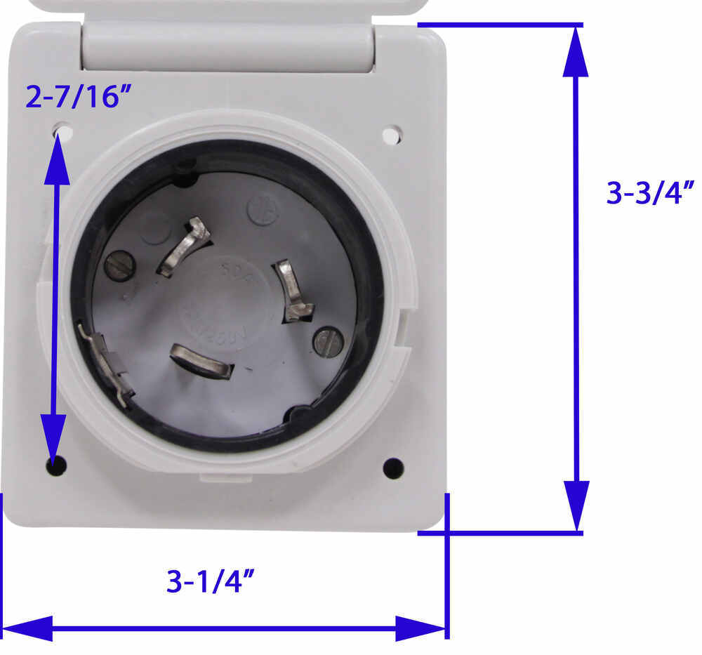 hight resolution of mighty cord replacement rv power inlet 50 amp twist lock white mighty cord rv wiring a10 50invp