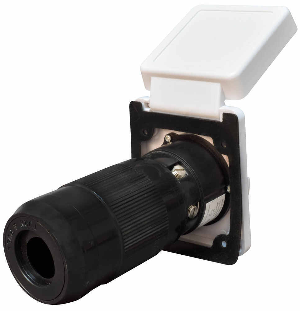 medium resolution of mighty cord replacement rv power inlet 50 amp twist lock white mighty cord rv wiring a10 50invp