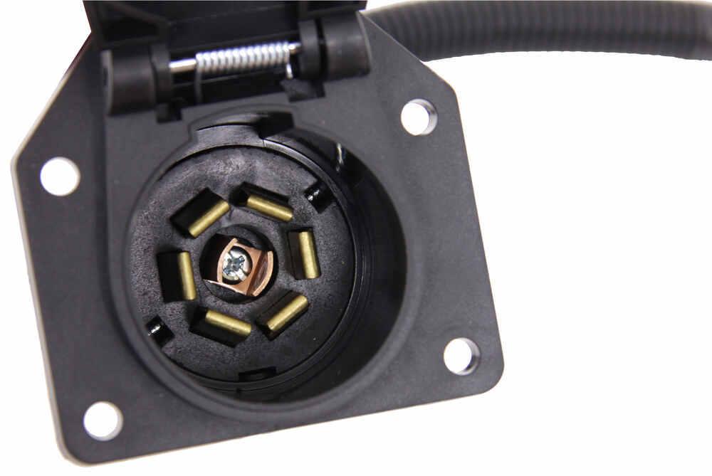 Wiring A 7way Round Pin European Trailer Connector Etrailercom