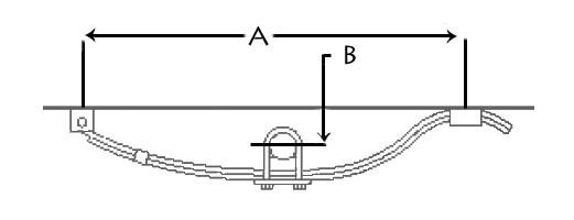 Single-Axle Trailer Hanger Kit for 1-3/4