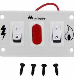 replacement double panel on off switch for atwood gas and electric combination water heaters white atwood accessories and parts at91230 [ 1000 x 891 Pixel ]