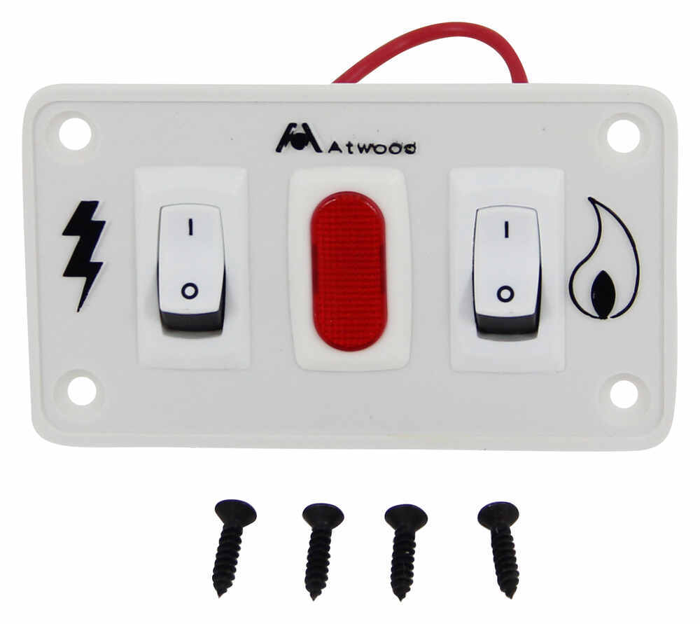 hight resolution of replacement double panel on off switch for atwood gas and electric combination water heaters white atwood accessories and parts at91230
