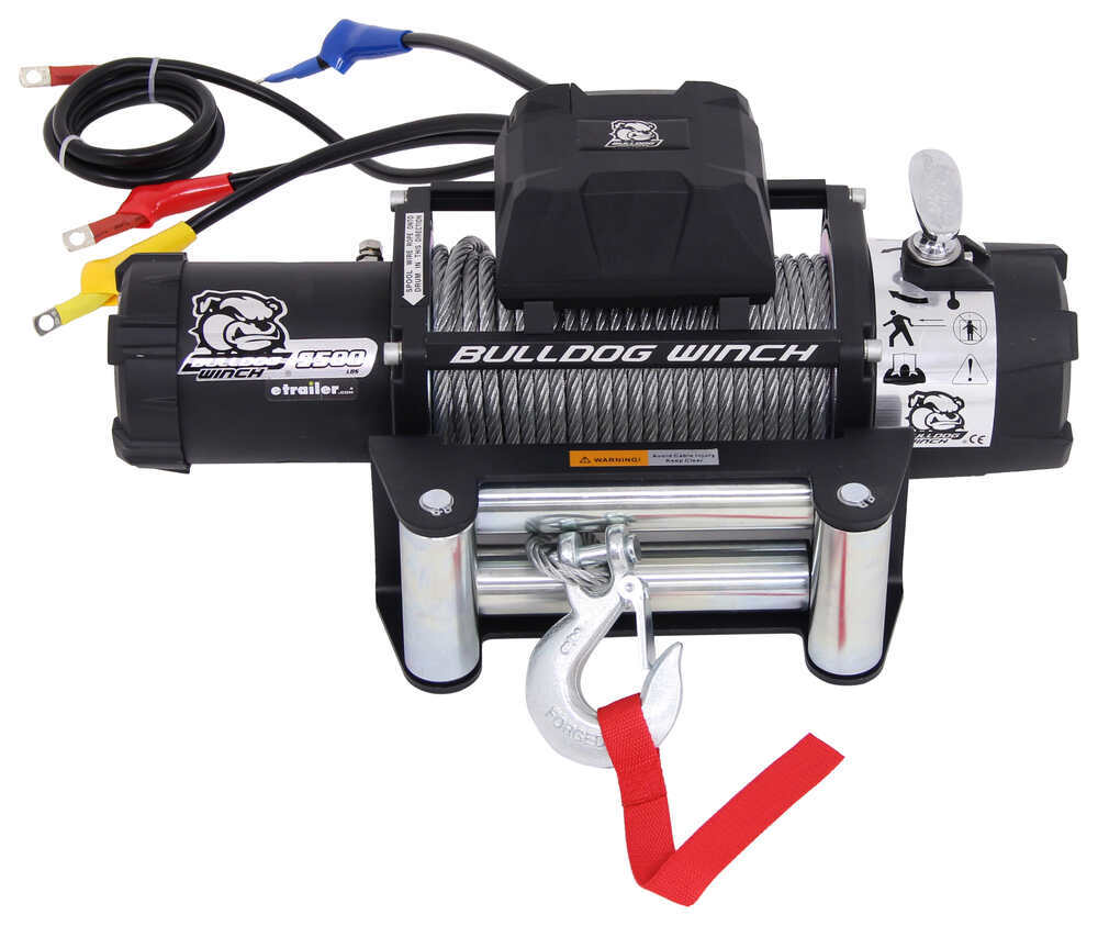 hight resolution of bulldog winch standard series off road winch wire rope roller fairlead 9 500 lbs bulldog winch electric winch bdw10042