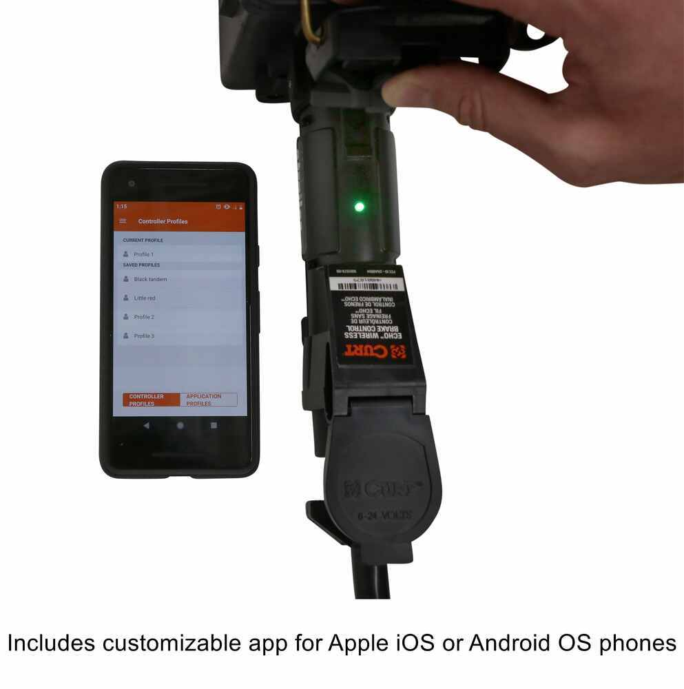hight resolution of curt echo mobile trailer brake controller wireless 1 to 2 axles proportional curt brake controller c51180