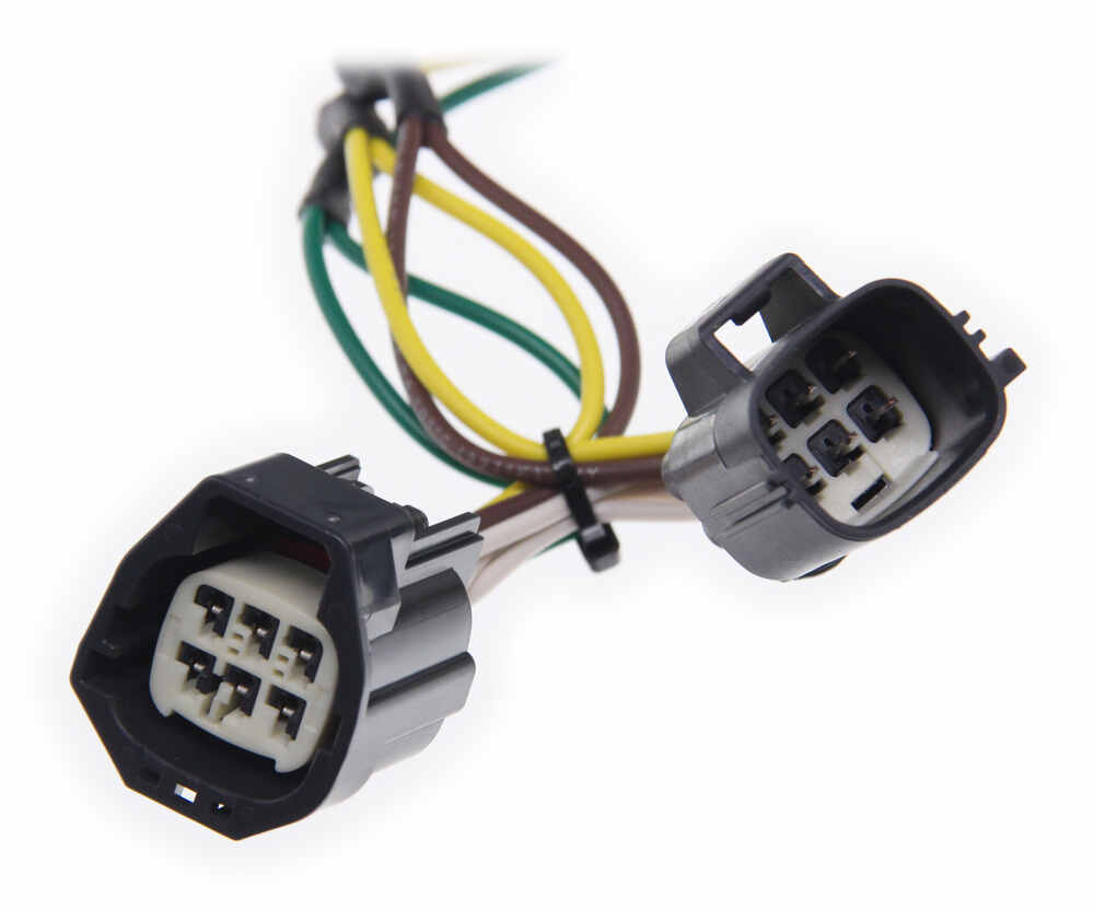 medium resolution of curt t connector vehicle wiring harness with 4 pole flat trailer connector curt custom fit vehicle wiring c55124
