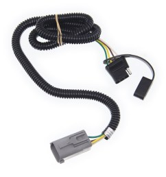 curt t connector vehicle wiring harness for factory tow package 4 pole flat trailer connector curt custom fit vehicle wiring c55265 [ 949 x 1000 Pixel ]