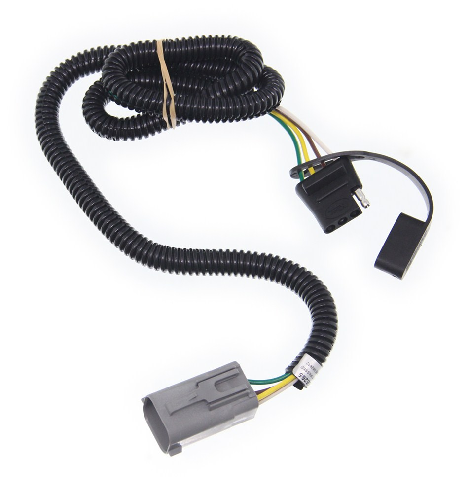 hight resolution of curt t connector vehicle wiring harness for factory tow package 4 pole flat trailer connector curt custom fit vehicle wiring c55265