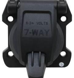 curt 6way round connector socket vehicle side diecast metal r 58190 metal 7way round rv blade wiring connector trailer end [ 857 x 1000 Pixel ]