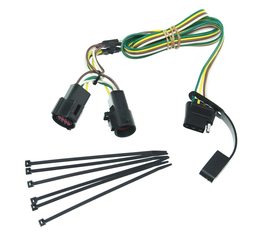 medium resolution of curt t connector vehicle wiring harness with 4 pole flat trailer connector curt custom