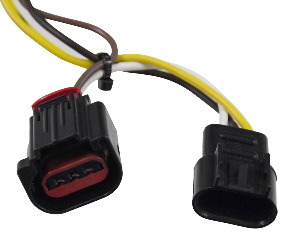 hight resolution of dodge journey curt t connector vehicle wiring harness with 4 pole flat trailer connector
