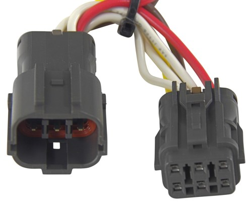 small resolution of curt t connector vehicle wiring harness with 4 pole flat trailer connector curt custom fit vehicle wiring c56153