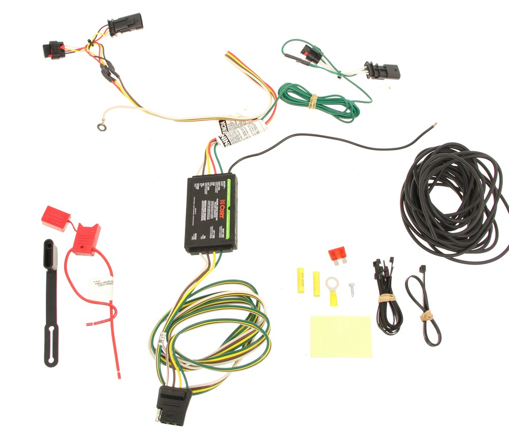 medium resolution of curt t connector vehicle wiring harness with 4 pole flat trailer curt t connector vehicle wiring