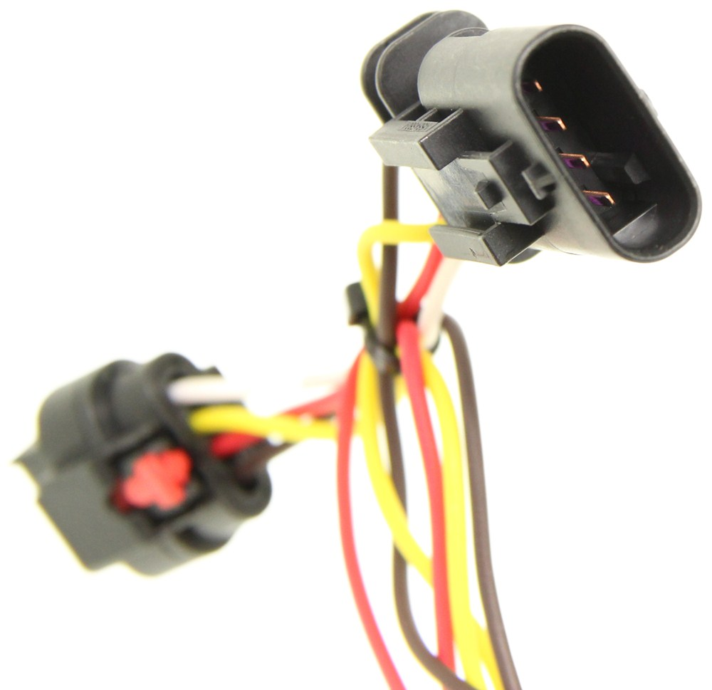 medium resolution of curt t connector vehicle wiring harness with 4 pole flat trailer connector curt custom fit vehicle wiring c56181