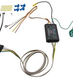 curt powered tail light converter kit with 4 pole flat 4 pin trailer wiring diagram 4 flat trailer wiring diagram [ 1000 x 821 Pixel ]