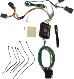 curt t connector vehicle wiring harness with 4 pole flat trailer connector curt custom fit vehicle wiring c56222 [ 874 x 1000 Pixel ]