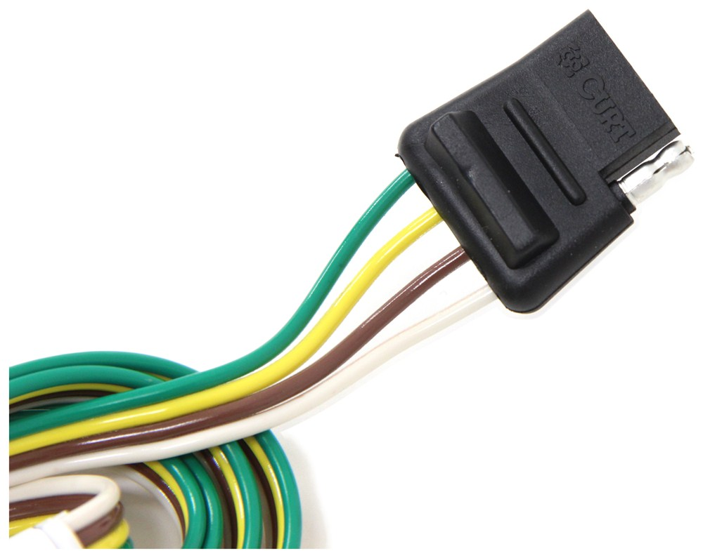 hight resolution of curt t connector vehicle wiring harness for factory tow package 4 pole flat trailer connector curt custom fit vehicle wiring c56245