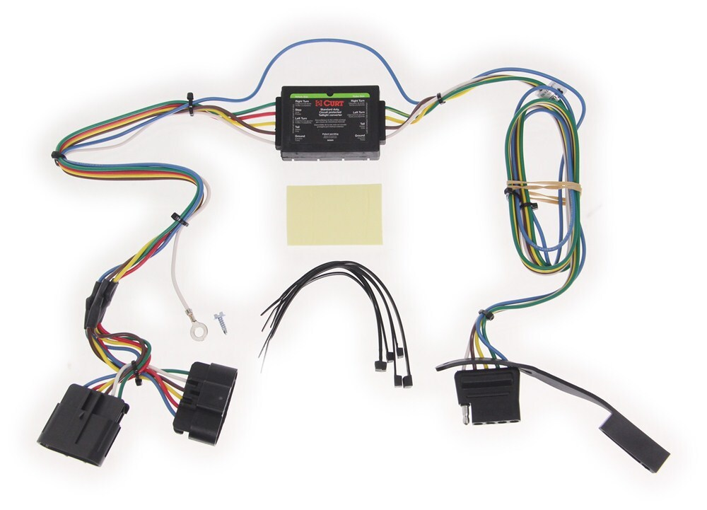 curt tconnector vehicle wiring harness with 4pole flat trailer