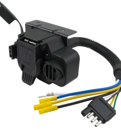 curt trailer connector adapter with backup alarm 4 way to 7 way rv trailer wiring harness 7 pin to 4 flat [ 1000 x 969 Pixel ]