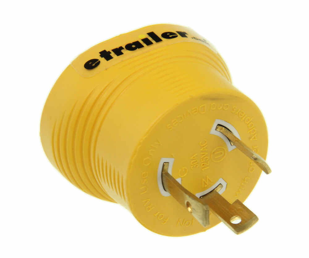medium resolution of power grip generator plug adapter for rv power cord 30 amps 3 prong twist lock camco rv wiring cam55333