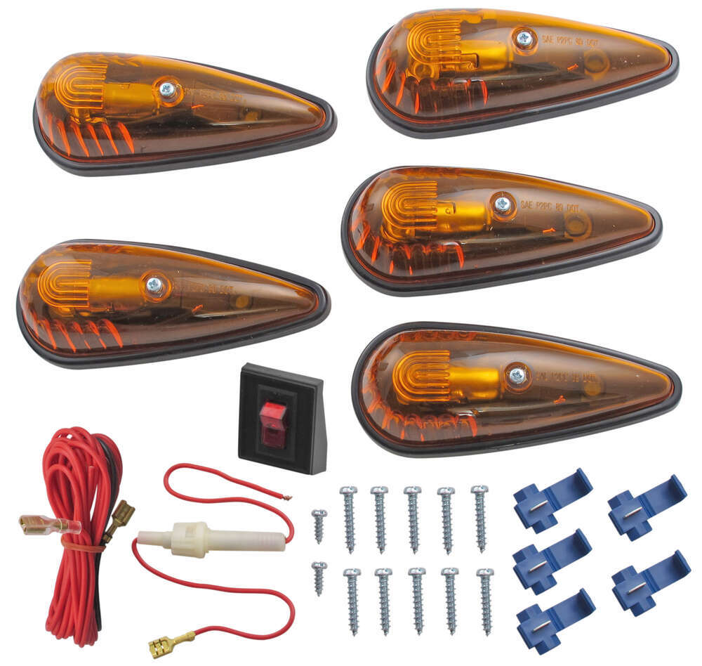 hight resolution of clearance light kit teardrop shape amber qty 5 optronics vehicle lights cb 15ak