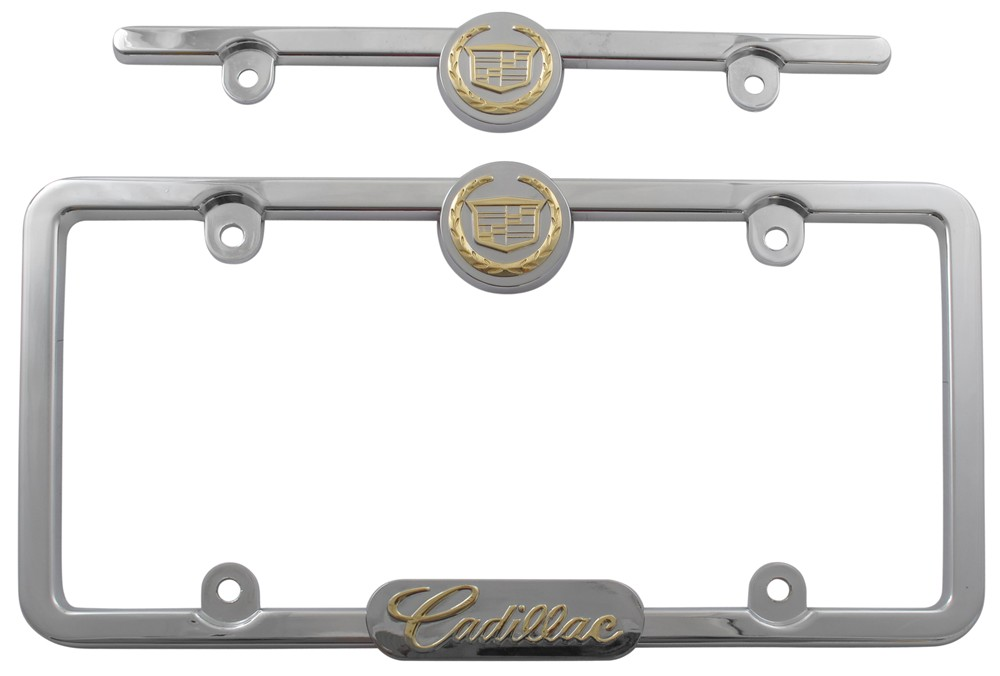 Gold Cadillac License Plate Frames