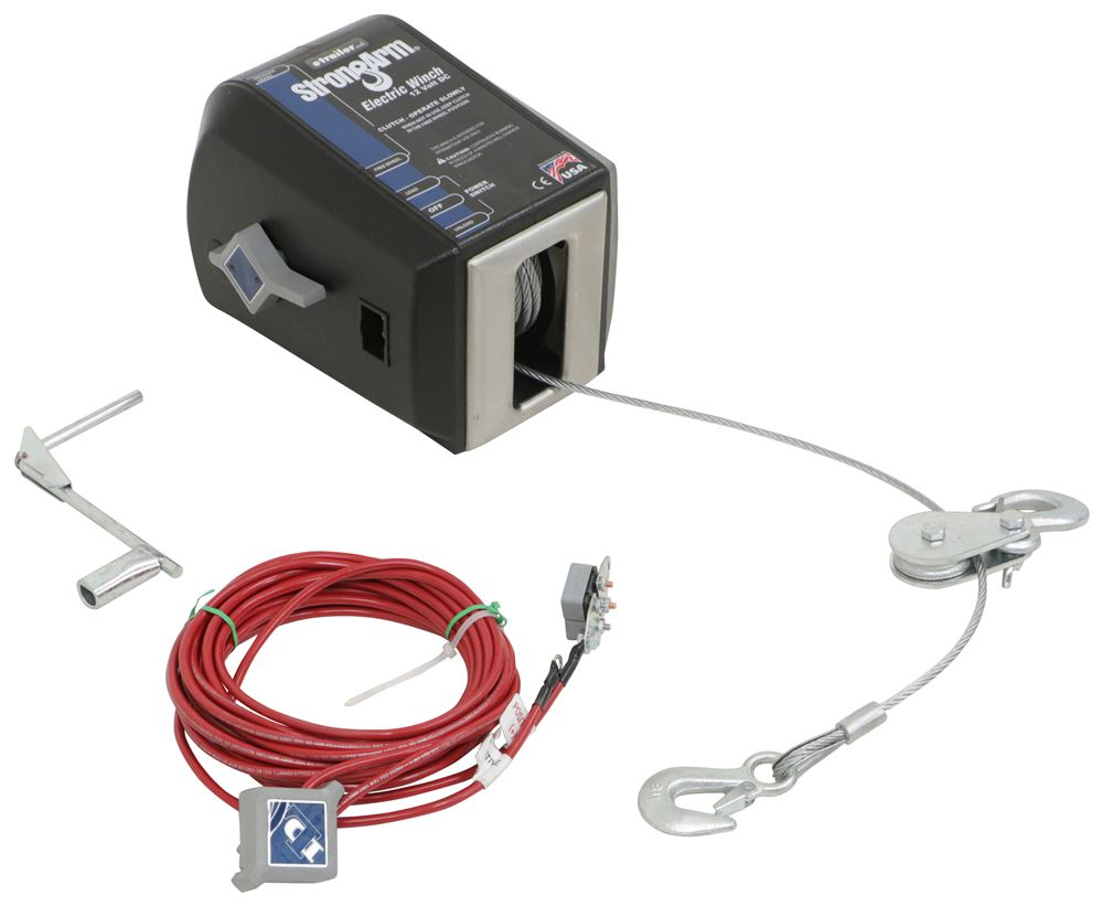 hight resolution of dutton lainson strongarm electric winch w pulley block 3 000 lbs dutton lainson trailer winch dl24874