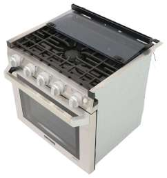 furrion 2 in 1 range oven w die cast grate 21 stainless steel furrion rv stoves and cooktops fsre21sass [ 938 x 1000 Pixel ]