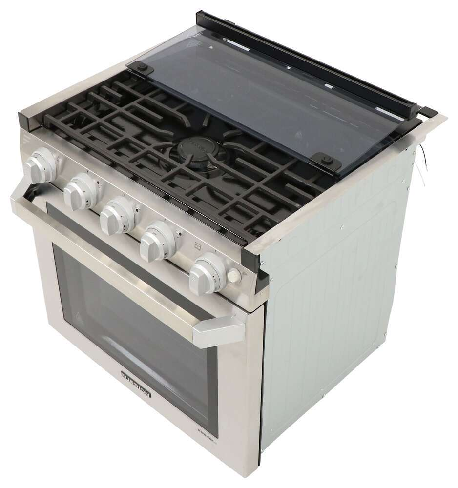 hight resolution of furrion 2 in 1 range oven w die cast grate 21 stainless steel furrion rv stoves and cooktops fsre21sass