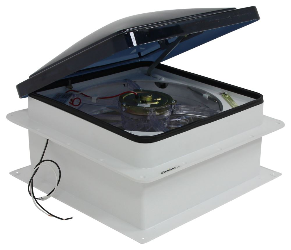 hight resolution of fan tastic vent roof vent w 12v fan and thermostat powered liftfan tastic vent roof vent