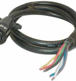 hopkins 7 way rv style connector with molded cable trailer end 8 long rv standard hopkins wiring h20046 [ 1000 x 800 Pixel ]