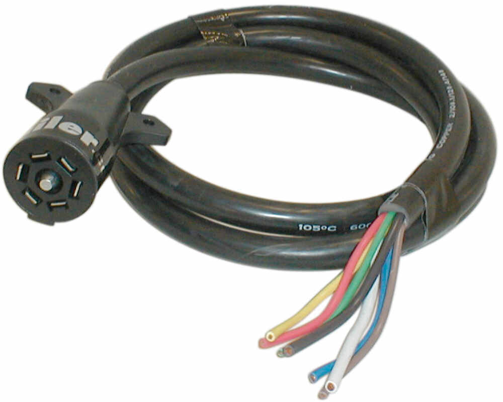 hight resolution of hopkins 7 way rv style connector with molded cable trailer end 8 long rv standard hopkins wiring h20046