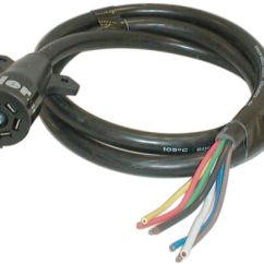 Hopkins 7 Way Plug Wiring Diagram 2001 Saturn Sl1 Engine 7-way Rv Style Connector With Molded Cable - Trailer End 8' Long Standard ...