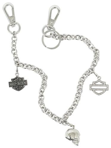 Harley-Davidson Small-Link Belt Key Chain with Swarovski