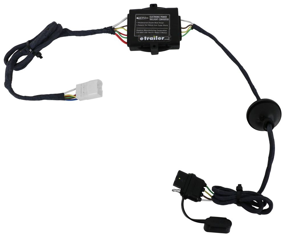 hight resolution of hopkins plug in simple vehicle wiring harness with 4 pole flat trailer connector hopkins custom fit vehicle wiring hm11143865