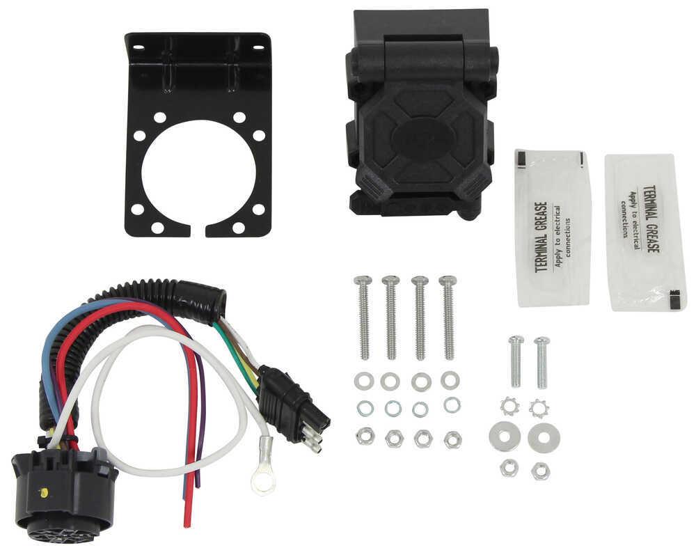 hight resolution of hopkins endurance multi tow 4 way flat to 7 way rv trailer adapter w 4 way vehicle end plug hopkins wiring hm47180
