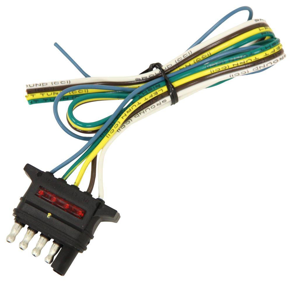 medium resolution of hopkins 5 way flat trailer connector w led test lights trailer end 24 hopkins wiring hm47913