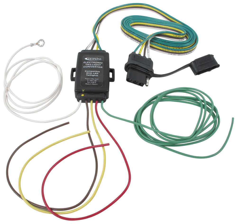 hight resolution of hopkins tail light converter kit with 4 way flat connector led compatible hopkins wiring hm48895