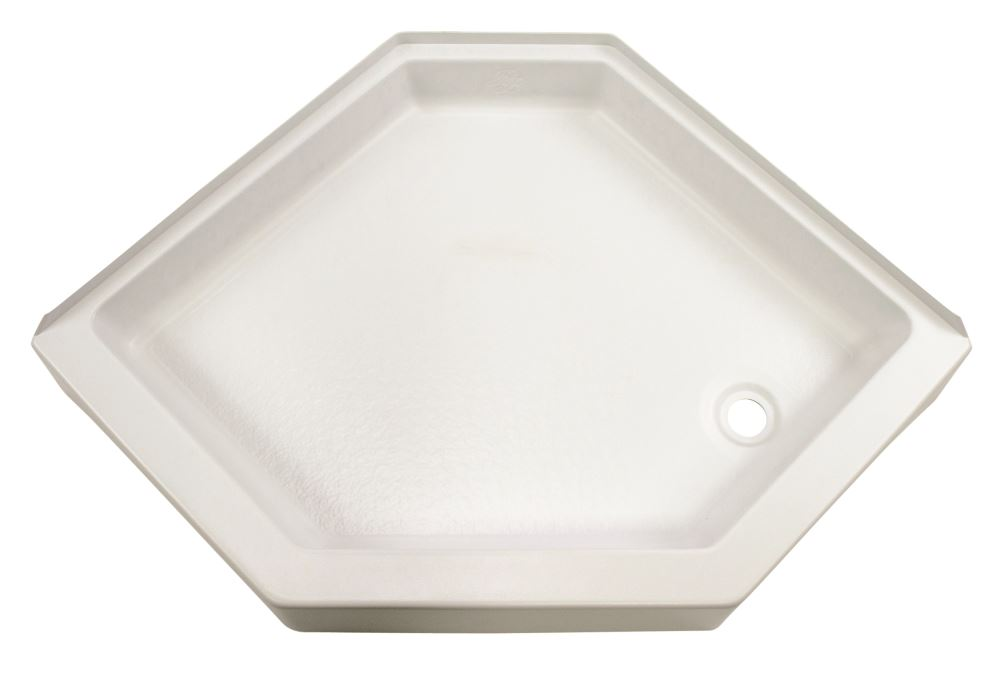 Better Bath 32 x 32 Neo Angle RV Shower Pan  Right Drain  5 Rise  White Lippert Components