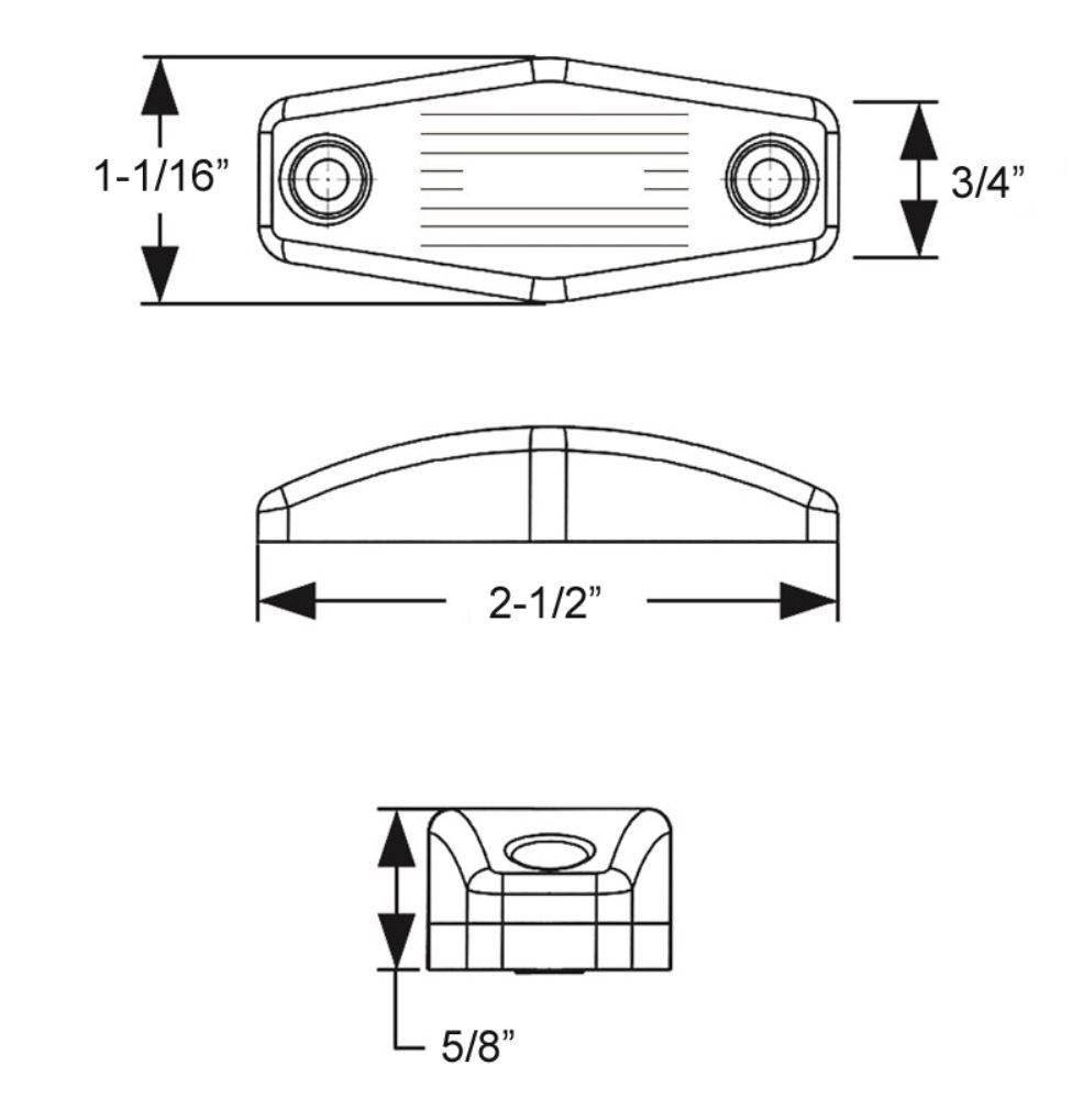 medium resolution of trailer lights mcl99a1b surface mount optronics